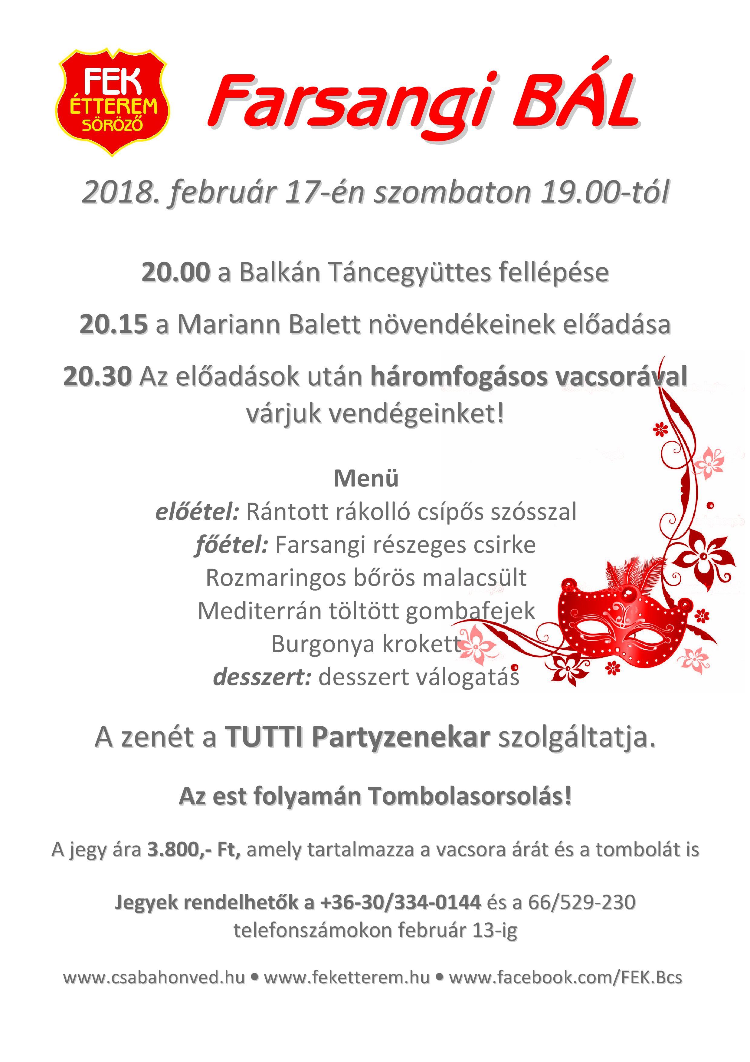 FEK Bál_Plakát 2018 menüs