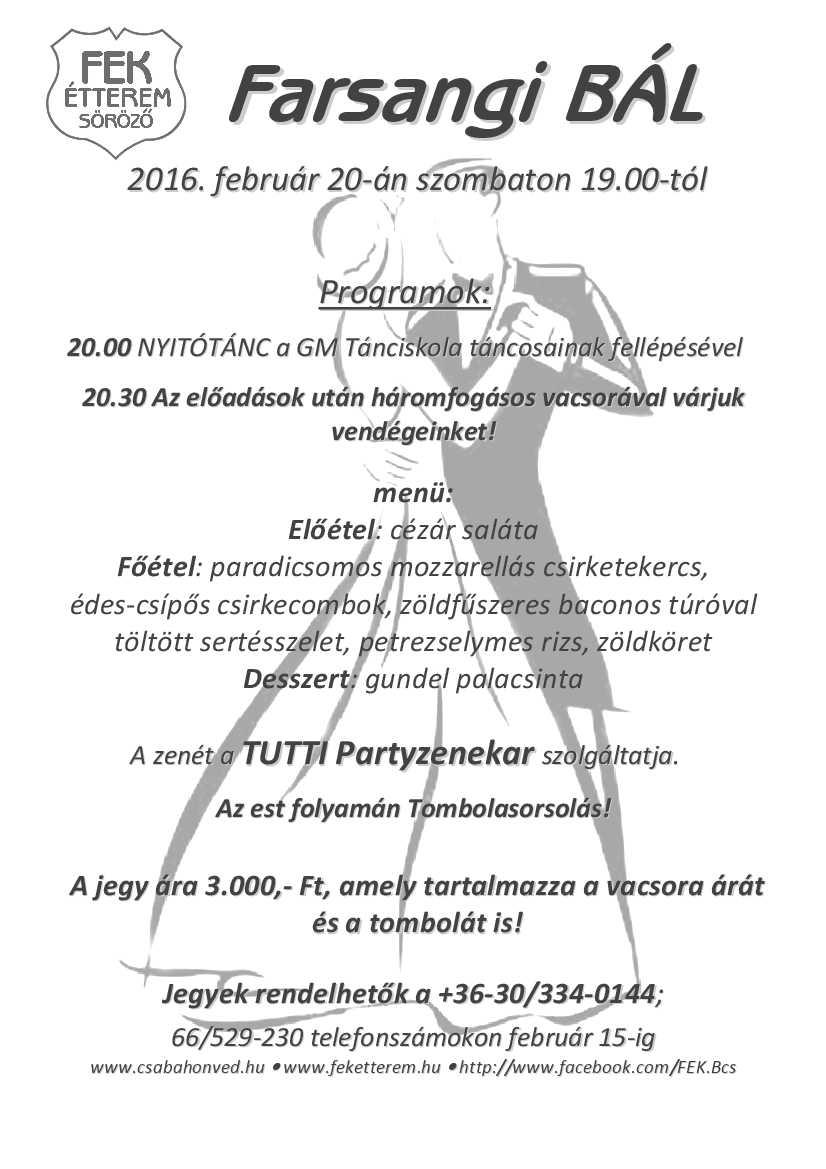 FEK Bál Plakát_2016 menüvel